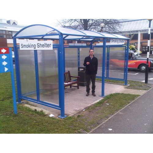 Metal Smoking Shelters : Venue smoking shelter buy online from bin shop