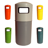 Hooded Top Litter Bin - 90 Litre