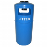Hooded Top Litter Bin with Fitted Ashtray - 90 Litre