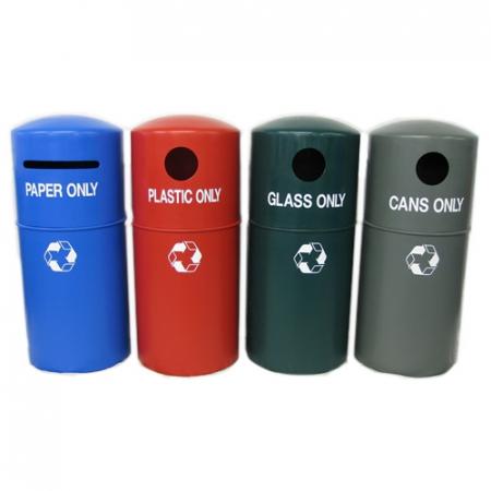 Hooded Bin Recycling Station