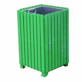 Anti-Vandal Square Litter Bin - 112 Litre Capacity