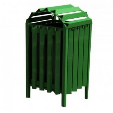 Anti-Vandal Litter Bin - 112 Litre Capacity