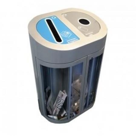 Torpedo Double Transparent Internal Recycling Bin - 120 Litre