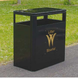 Middlesbrough Steel Litter Bin - 224 Litre