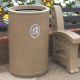 Universal Open Top Litter Bin - 90 Litre