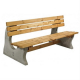 Concrete and Timber Park Bench