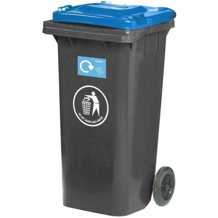 Wheeled Bin with Coloured Lid - 120 Litre