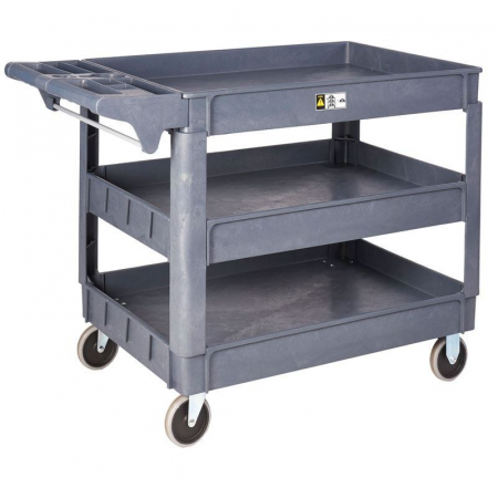 Plastic Service Trolley - 3 Trays