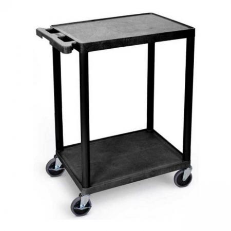 Plastic Multi-Purpose 2 Shelf Trolley - 150kg Capacity