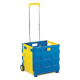 Blue & Yellow Economy Folding Box Truck - 25kg Capacity