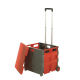 Grey & Red Folding Box Truck with Lid - 35kg Capacity