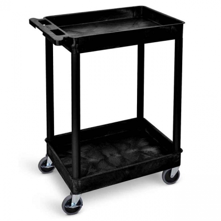 Super Strength Plastic Multi-Purpose 2 Tray Trolley - 150kg Capacity