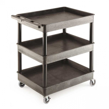 Super Strength Plastic Multi-Purpose 3 Tray Trolley - 150kg Capacity