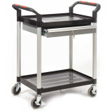 ProPlaz 2 Shelf Trolley with Steel Drawers - 100kg Capacity