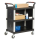 ProPlaz 3 Shelf Trolley with Plastic Sides - 150kg Capacity