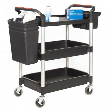 ProPlaz Plus Deep 3 Tray Trolley with Bucket Attachments - 150kg Capacity