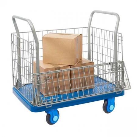 ProPlaz Super Silent Mesh Trolley with Half Drop Side - 300kg Capacity