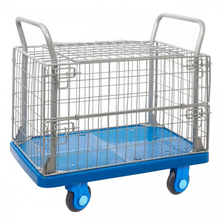 ProPlaz Super Silent Mesh Trolley with Hinged Lid & Half Drop Side - 300kg Capacity