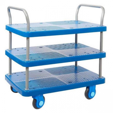 ProPlaz Super Silent Three Tier Platform Trolley - 300kg Capacity