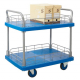 ProPlaz Blue Two Tier Platform Trolley with Wire Surround - 300kg Capacity
