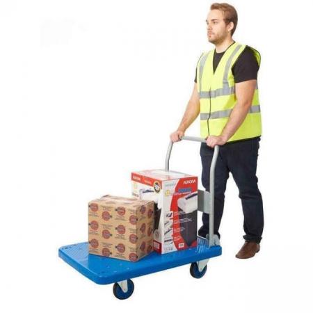 ProPlaz Blue Large Platform Trolley - 300kg Capacity