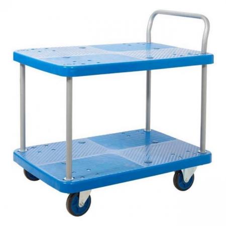 ProPlaz Blue Two Tier Platform Trolley - 300kg Capacity