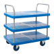 ProPlaz Blue Three Tier Platform Trolley - 300kg Capacity