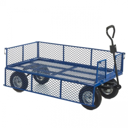 REACH Compliant Industrial General Purpose Truck with Mesh Sides and Puncture Proof Wheels - 500kg Capacity