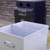 Valley 50/50 Recycling Bin - 100 Litre Capacity