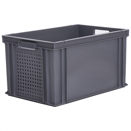 65L Euro Stacking Container - Perforated Ends - 600 x 400 x 325