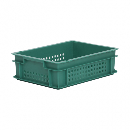 11L Euro Stacking Container - Perforated Sides & Solid Base - 400 x 300 x 120mm