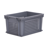 20L Euro Stacking Container - Perforated Sides & Solid Base - 400 x 300 x 220mm