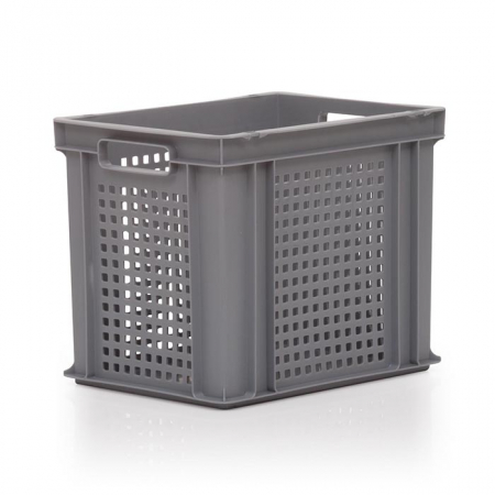 30L Euro Stacking Container - Perforated Sides & Solid Base - 400 x 300 x 325mm