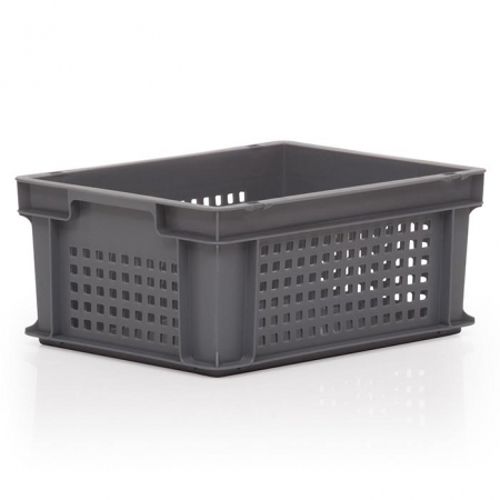 15L Euro Stacking Container - Perforated Sides & Solid Base - 400 x 300 x 170mm