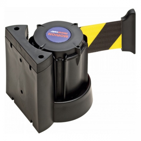 Wall Mounted Belt Barrier - 3m Yellow and Black Belt