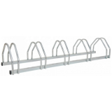 Traffic-Line 5 Space Galvanised Steel Bicycle Rack