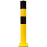 Black Bull Type L Heavy Duty Bollard - 159 x 1200mm - Yellow and Black