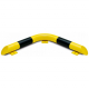 Black Bull Corner Collision Protection Bars - 86 x 638 x 638mm - Yellow and Black