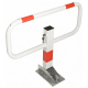 Commander Drop Down Frame Parking Post - Powder Coated White with Red Reflective Bands