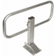 Commander Drop Down Frame Parking Post - Galvanised Finish