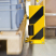 Pallet Racking Protector with Guide Roller - Right Angle Profile - 400 x 160 x 6mm