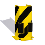 Pallet Racking Protector with Guide Roller - U Shaped Profile - 400 x 160 x 6mm