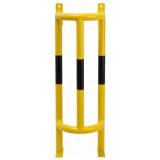 Wall and Ground Mounted External Pipe Protector - 1000 x 350 x 300mm - Yellow and Black