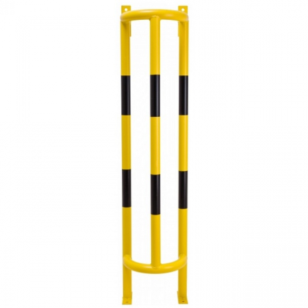 Wall and Ground Mounted External Pipe Protector - 1500 x 350 x 300mm - Yellow and Black