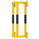 Wall Mounted External Pipe Protector - 1000 x 350 x 300mm - Yellow and Black
