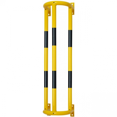 Wall Mounted External Pipe Protector - 1500 x 350 x 300mm - Yellow and Black