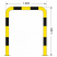 Black Bull Steel Collision Protection Guard - 1200 x 1000mm - Yellow and Black