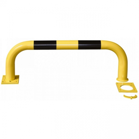 Black Bull Removable Steel Collision Protection Guard - 350 x 1000mm - Yellow and Black