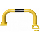 Black Bull Removable Steel Collision Protection Guard - 350 x 750mm - Yellow and Black