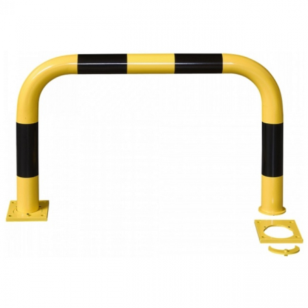 Black Bull Removable Steel Collision Protection Guard - 600 x 1000mm - Yellow and Black